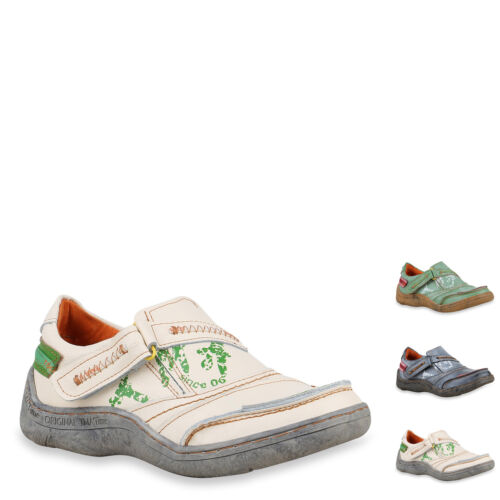 896140 TMA Damen Slipper Leder Slip Ons Bequeme Vintage Freizeit Schuhe Hot