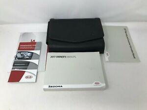 2017 Kia Sedona Owners Manual Handbook Set With Case OEM Z0B048