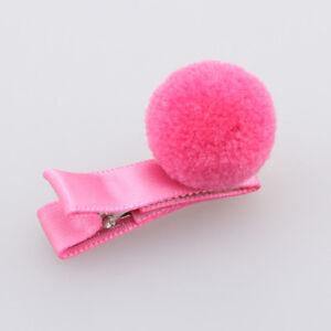 Girls-Hair-Pin-Baby-Kids-Hair-Clip-Cute-Color-Ball-Hair-Accessories-Rose