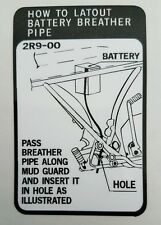 YAMAHA RD400D RD400E RD400F BATTERY WARNING DECAL