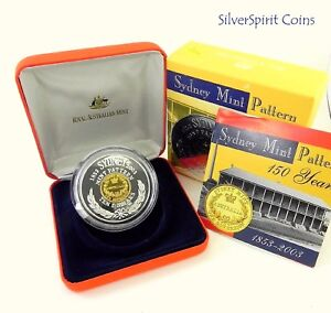 2003-SYDNEY-MINT-PATTERN-150-Years-Silver-Proof-Coin