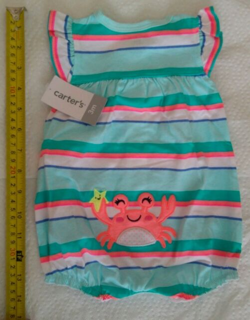 NWT Carter/'s Baby Boy Blue Shark Fish Snap-Up Romper Size 3 6 9 12 18 24 Months