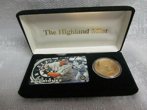 Alex Rodriguez Yankees Highland Mint 24K Gold Plated Coin Tele Set ...
