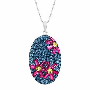 Flower-Pendant-with-Swarovski-Crystal-in-Sterling-Silver