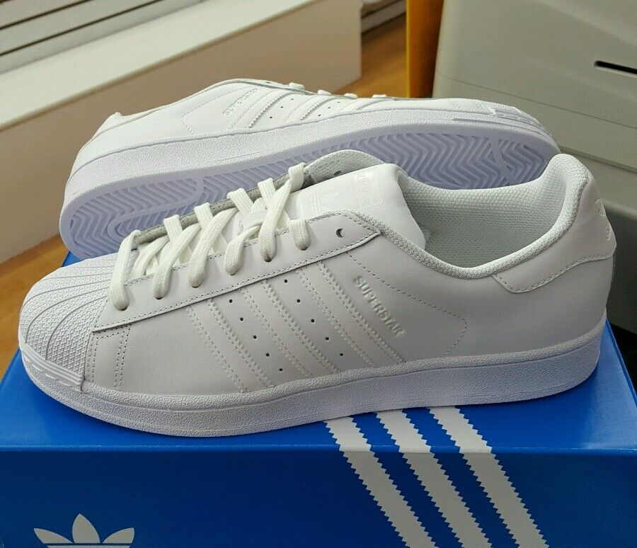 ADIDAS SUPERSTAR FOUNDATION B27136 White White Men's US SZ 8.5