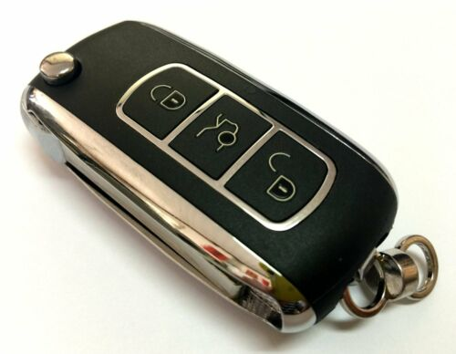 CHROME FLIP REMOTE FOR HONDA KOBUTAH2T DEALER OEM CHIP KEY CLICKER BEEPER FOB