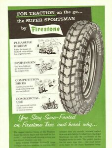 1959 Firestone Super Sportsman Motorcycle Tires Vintage Ad Ebay