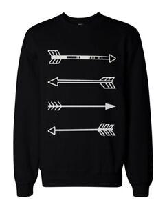 Tribal-Arrows-Graphic-Sweatshirts-Unisex-Black-Sweatshirt