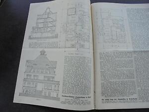 Zeitschriften Honig 1914 Baugewerkszeitung 93/ Landhaus Sommerkamp Soest Antiquitäten & Kunst