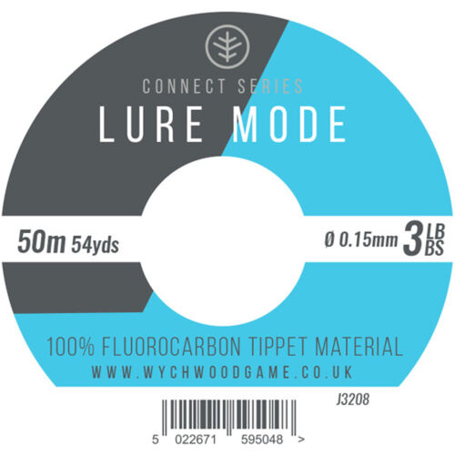 Wychwood Lure Mode 100/% Fluorocarbon Tippet Material 5 Sizes Trout Game Fishing
