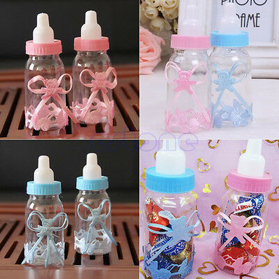 24X Fillable Bottles Candy Box Baby Shower Baptism Party Favour Christening