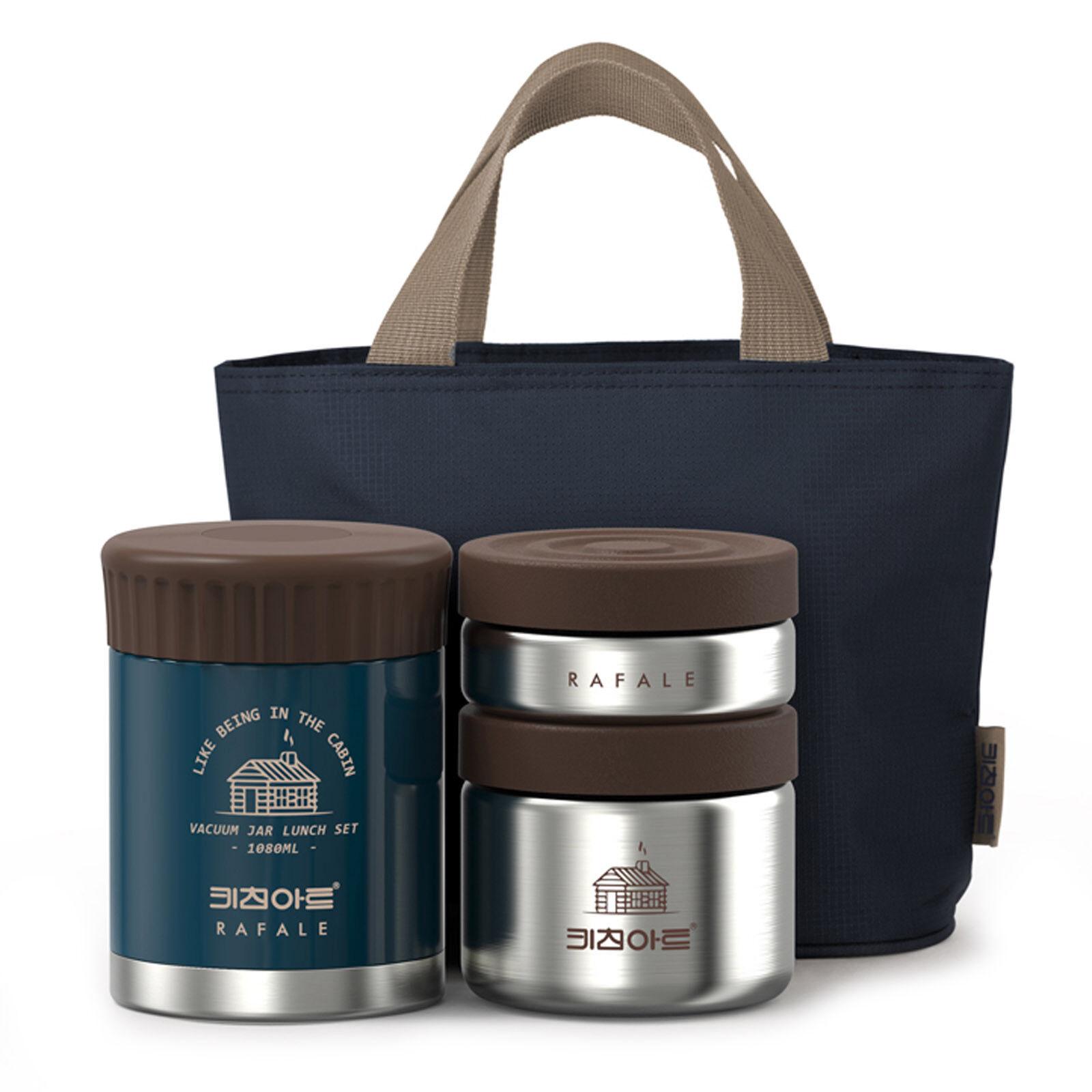 KitchenArt Rafale Cabin Thermal Cooler Bento Lunch Box Set Insulated Storage Bag
