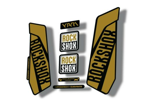 Rock Shox YARI 2015-16 Fork Decal Mountain Bike Cycling Sticker Adhesive Gold
