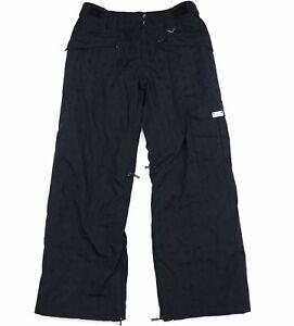 Para Hombre Oakley Loose Fit Negro Solido Aislado Cargo Pantalones De Esqui De Nieve De Invierno Talle M Ebay