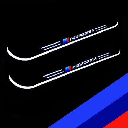 Voiture Éraflure Plaque Trim Pédale DEL Blanche Porte Sill Pathway Light pour BMW X5 X6 3 5