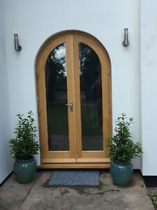 Image Is Loading Made To Measure Solid Oak Pair Doors And