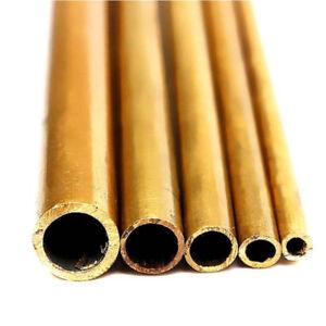 Round-Brass-Tube-5-Size-2mm-6mm-Inner-Diameter-300mm-Length-0-5mm-Thickness