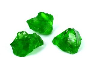 Brazilian Olive Green Peridot 90 Ct 3 Pcs Natural Gemstone Rough Lot