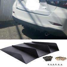 For Toyota Yaris Yaris Ia Rear Diffuser Bumper 4 Fins Spoiler Lower Splitter Lip