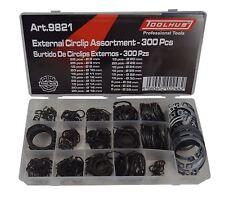 Tool Hub 9821 Circlip Set external snap Ring assortment 300pc retaining circlips