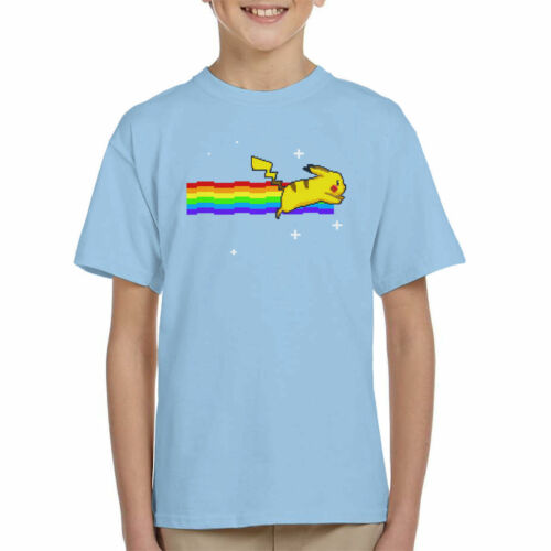 Pokemon Pikachu Nyan Cat Kid/'s T-Shirt
