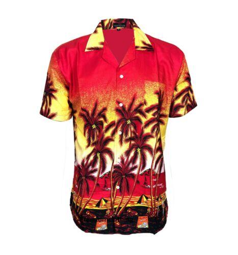 NUOVA Linea Uomo Camicia Hawaiana Vestito Vintage Aloha Fancy Stag Beach Camicie Top Funky