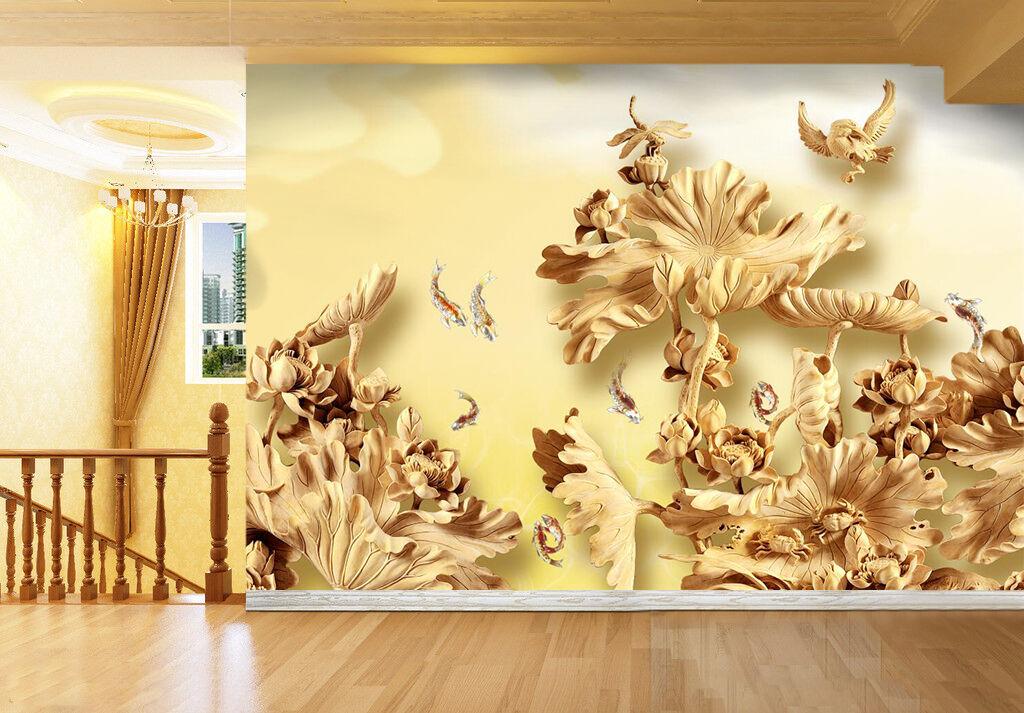 3D Avaler Fleur 268 Photo Papier Peint en Autocollant Murale Plafond Chambre Art