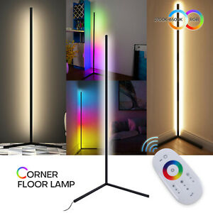 Corner Floor Lamp Color Changing Dimmable LED Night Light Standing Bedroom Decor