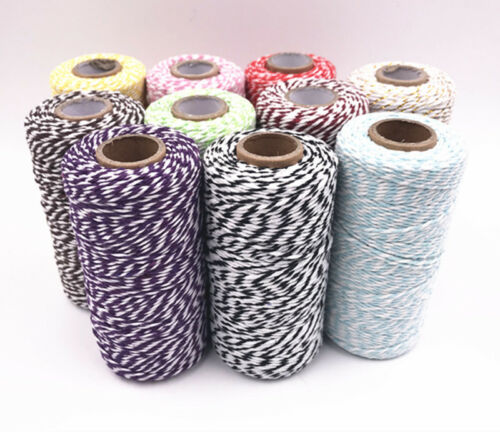 Coton multicolore couleur ficelle Bundle Meilleure Qualité 100 M String Ribbon Craft