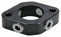 SBC BBC Billet Water Neck Spacer Black Anodized 0-Ring 1 inch THERMOSTAT RISER