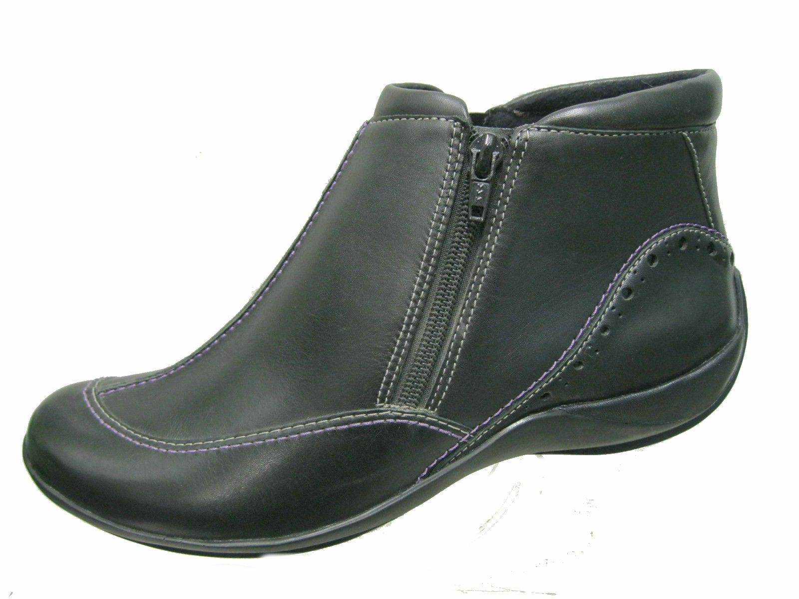 LADIES K BY CLARKS BLACK ANKLE BOOT