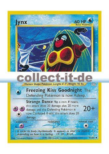 Pokemon Neo Revelation 31//64 Jynx Englisch