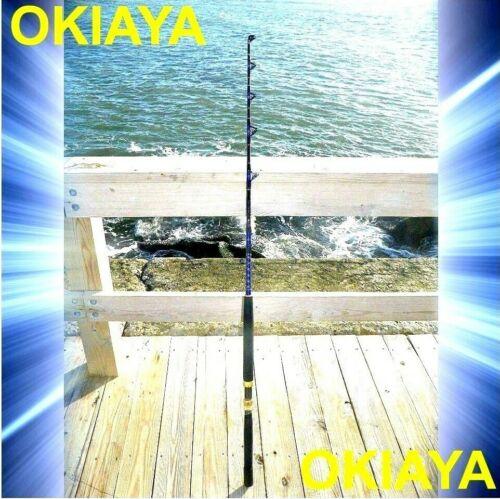 "SALTWATER FISHING RODS 30-50LB FISHING POLE /""BLUELINE/"" FOR PENN SHIMANO"
