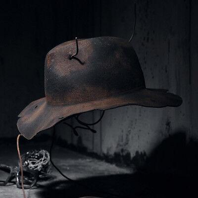ByTheR Men's Custom Burning Grunge Brown Fedora Vintage Wide Brim Hat Onesize UK