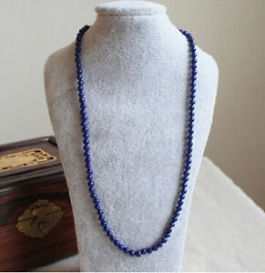 Natural-Afghan-lapis-lazuli-natural-handmade-bead-necklace-original-24-INCH