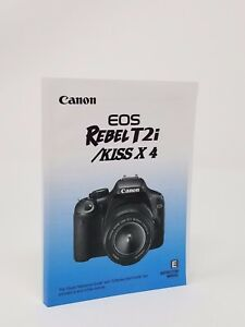 canon rebel t2i eos 550d genuine instruction owners manual book rh ebay com eos 550d instruction manual canon eos rebel t2i 550d user manual