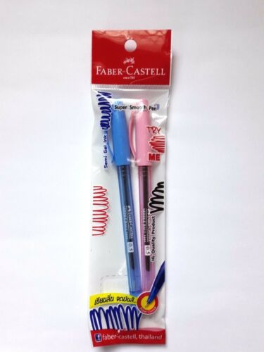 FABER-CASTELL NEEDLE BALL 1444 BALLPOINT PEN 0.5 MM BLUE INK 2 PEN