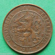 1906 dos y medio centavos de los países bajos SNo30375 de 2 1/2 centavos