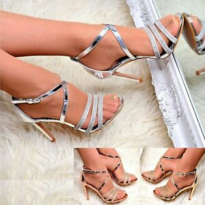 Ladies-Diamante-Ankle-Strap-Party-Sandals-Women-High-Heel-Evening-Bridal-Shoes