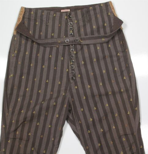 Kapital Japan Brown Anchor Design Striped w/ Hemp