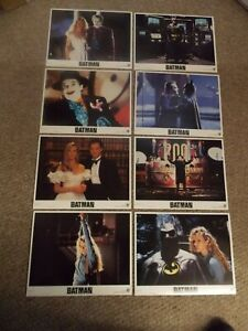 "BATMAN(1989)JACK NICHOLSON SET OF 8 ORIGINAL 11""BY14"" LOBBY CARDS NEAR MINT!"
