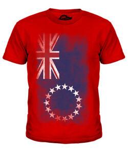Cookinseln Verblichen Flagge Kinder T-shirt Tee Unisex Jungen MÄdchen Kleinkind Mit Traditionellen Methoden Kindermode, -schuhe & -accessoires