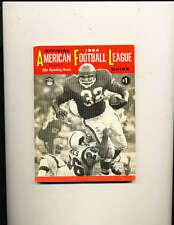 1964 afl american football league Guide TSN em clean Chiefs