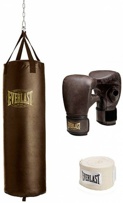 Vintage  Heavy Boxing Bag Kit, Sleek Durable Home Indoor Gym Training Exercise  official authorization
