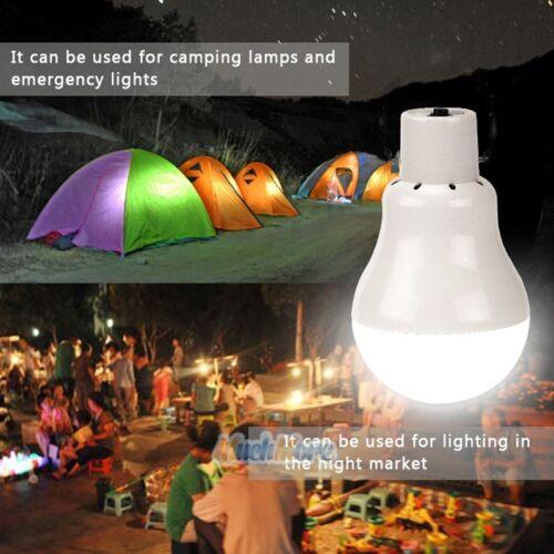 Portable Solar Power LED Bulb Lamp Outdoor Lighting Camp Tent Fishing Light USA