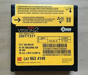 Details about Kodak Vision2 200T/7217 Color Negative 16mm Film (sealed)