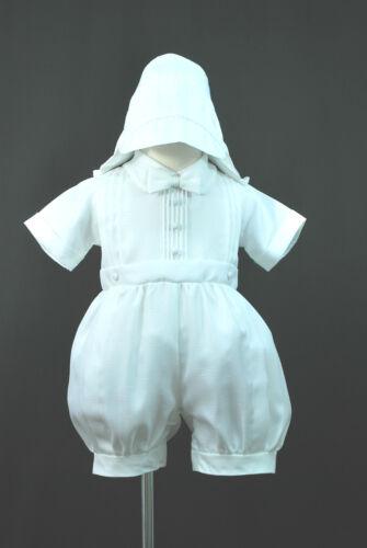 Hat 4 Baby Boy /& Toddler Christening Baptism 0M-30M New White Short Rompers