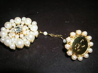 Avon Beautiful Brooch Pin Pc President's Club Rhinestone Pearls X