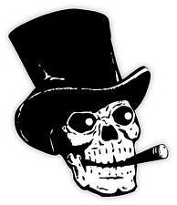 Cranio skull sigaro cigar schädel crâne череп etichetta sticker 10cm x 12cm