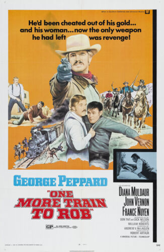 One more train to rob George Peppard movie poster print